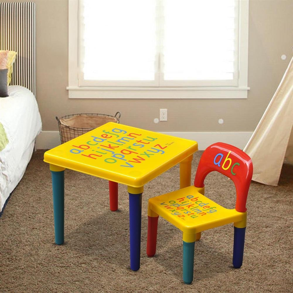 Popamazing Kids Children Furniture Alphabet Learn Play Abc Table