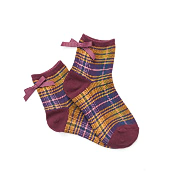 zhaoaiqin Calcetines de algodón, Medias, Calcetines, Calcetines de niña, Arco Rojo Vino: Amazon.es: Deportes y aire libre