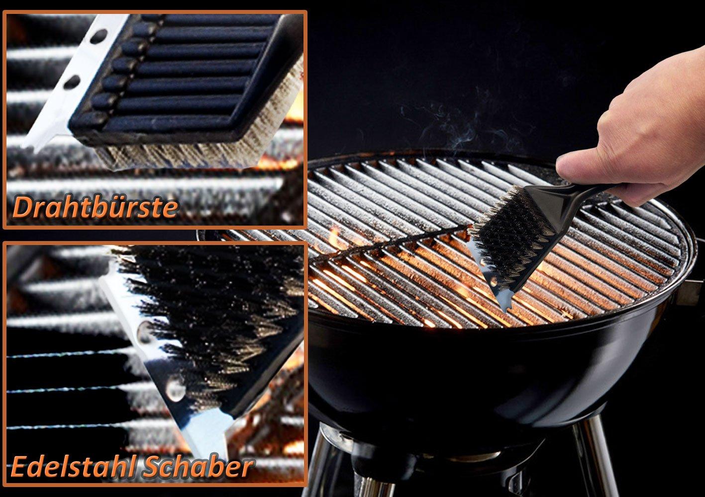 Grillbürste Xxl Grill Reinigungsbürste Mit Metallschaber Grillzubehör