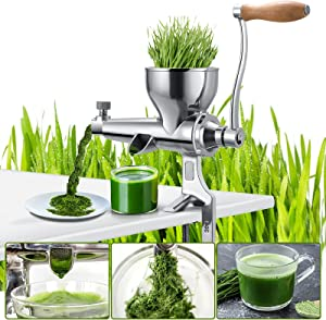 Multifunctional manual juicer, wheat juice and other vegetable juices, juice as you choose, stainless steel setting, simple operation, fast and convenient
