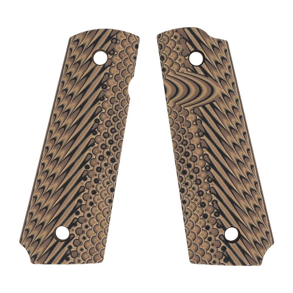 VZ Grips Operator II Full Size 1911 Gun Grip, Hyena Brown by VZ Grips