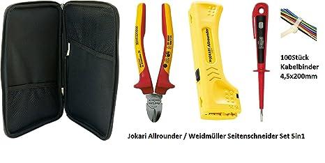 Weidmüller Jokari eléctrico Instalación Set 5 en 1: 1 x Allrounder No. 30900/