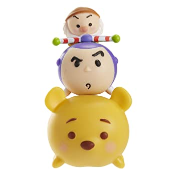 Disney Tsum Tsum 3 Pack Figures - Series 2 - Grumpy, Buzz Lightyear and Winnie