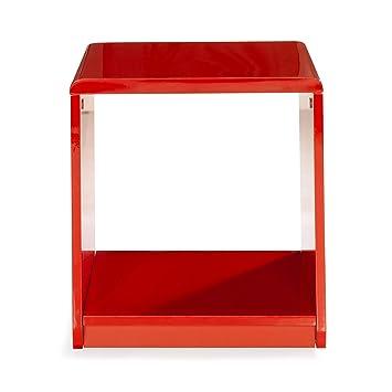 Table À RoulettesCuisine Chevet Rouge Laquée De Look jLGSUzMqVp