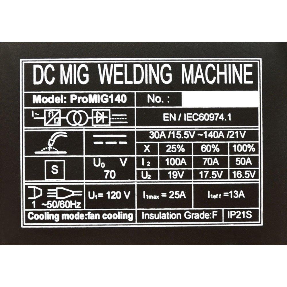 100 Amp Inverter IGBT Mig Wire Feed Gas / No Gas Welder Welding 120 ...