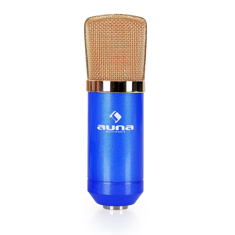 20 Hz auna CM001B Mikrofon /• professionelles Studiomikrofon /• Kondensatormikrofon /• ausgepr/ägte Nierencharakteristik /• 32 mm Kapsel mit Goldmembranen /• Frequenzbereich 20 kHz /• inklusive Mikrofonspinne Windschutz und