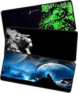 Consoles /& More|Enjoy Precise Heavy|Thick Large Gaming Mouse Pad with Nonslip Base|Extended XXL Size Laptop Keyboard Comfy Baby Cat Waterproof /& Foldable Mat for Desktop