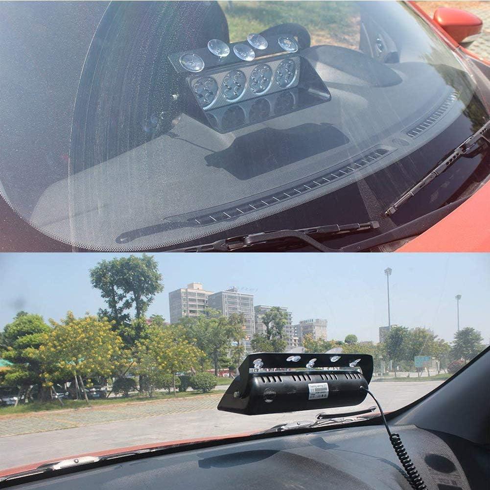 avec Ventouse Ambre Klighten 8 Modes 12LEDs voiture camion durgence flash Dash Flash Lumi/ère Clignotante pour v/éhicules automobiles Camions SUV Int/érieur Toit//Dash//Pare-brise 12V