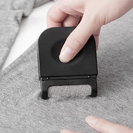 Transer Portable Handheld Lint Clothes Sweater Shaver Sticky Picker Hair Dust Fluff Fuzz Remover Cleaner (Black)