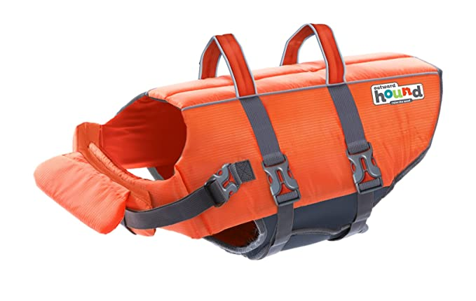 Kyjen Outward Hound PupSaver Ripstop Life Jacket Orange (Medium) best dog life vest
