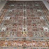 Yilong 10 x14  Handmade Rugs Persian Silk Carpet Classic Four Season Design Home Area Rugs (10 Feet by 14 Feet...