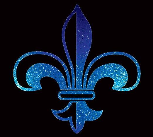 Fleur de Lis Sticker Vinyl Decals New Orleans Saints 4 Pcs.