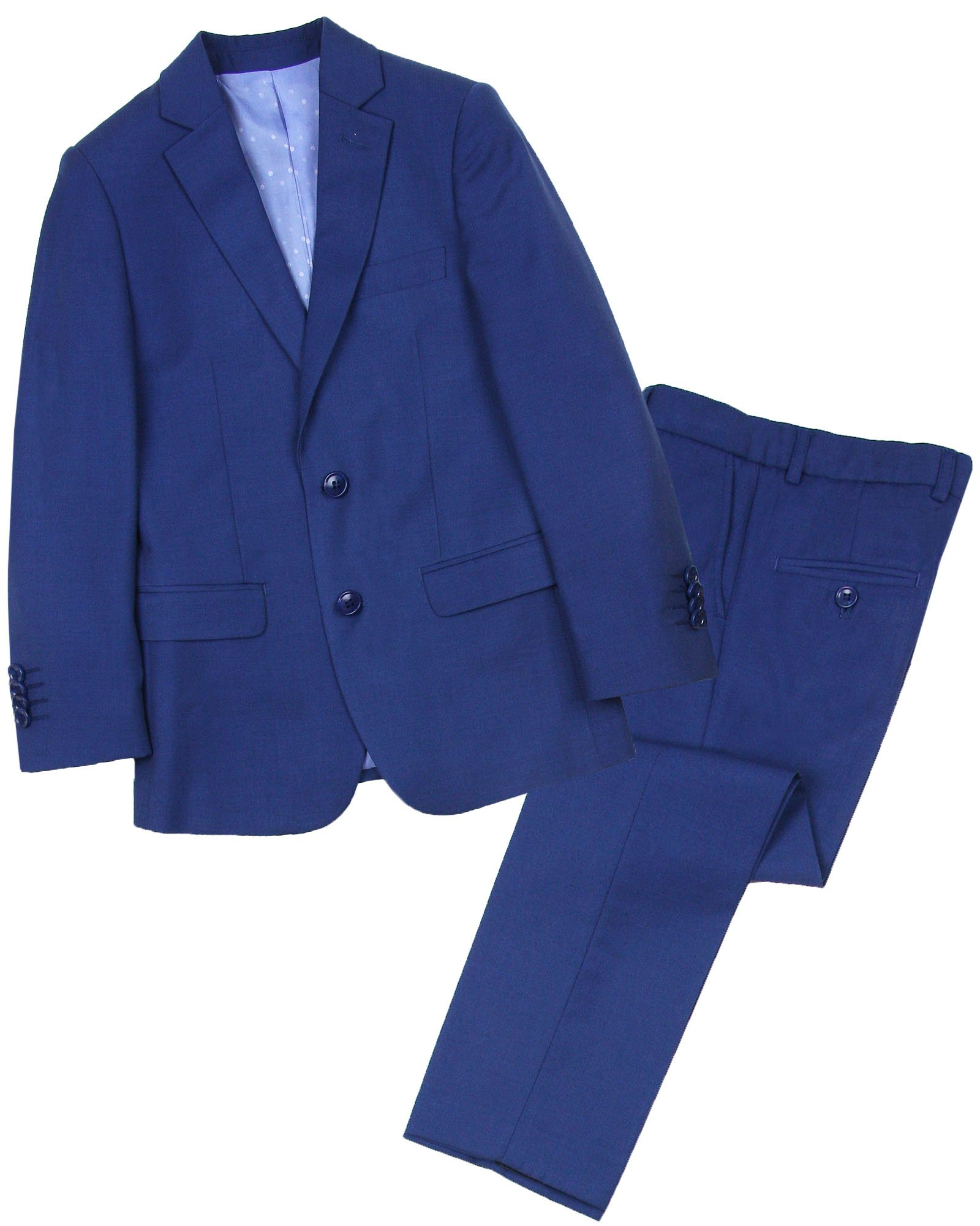 Isaac Mizrahi Boys' Two-Piece Wool Blend Suit, Sizes 4-16 - 4