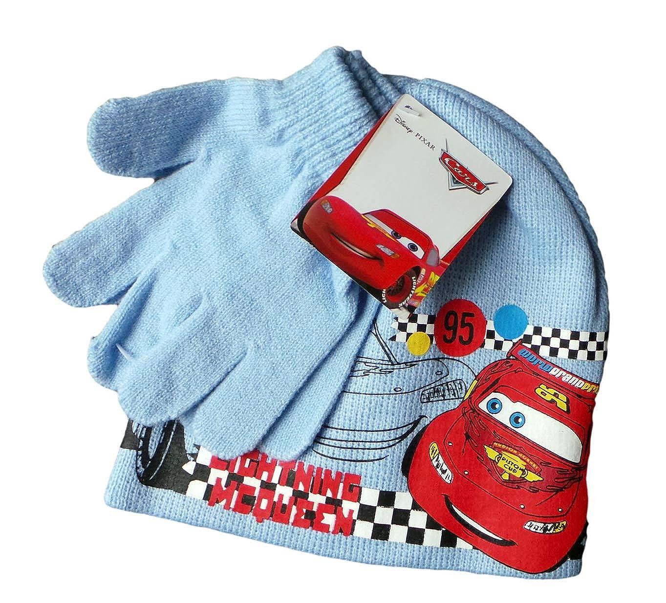 Disney Cars Winterset Lightning McQueen Race! - Mütze und Handschuhe - Hellblau/Mehrfarbig