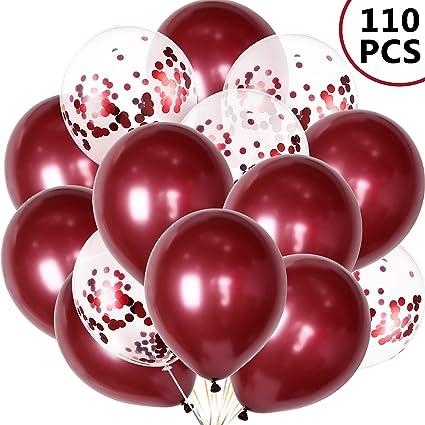 """Paquete De 25-12/"""" Rojo Metálico Globos de Látex para el cumpleaños decoración fiesta"""