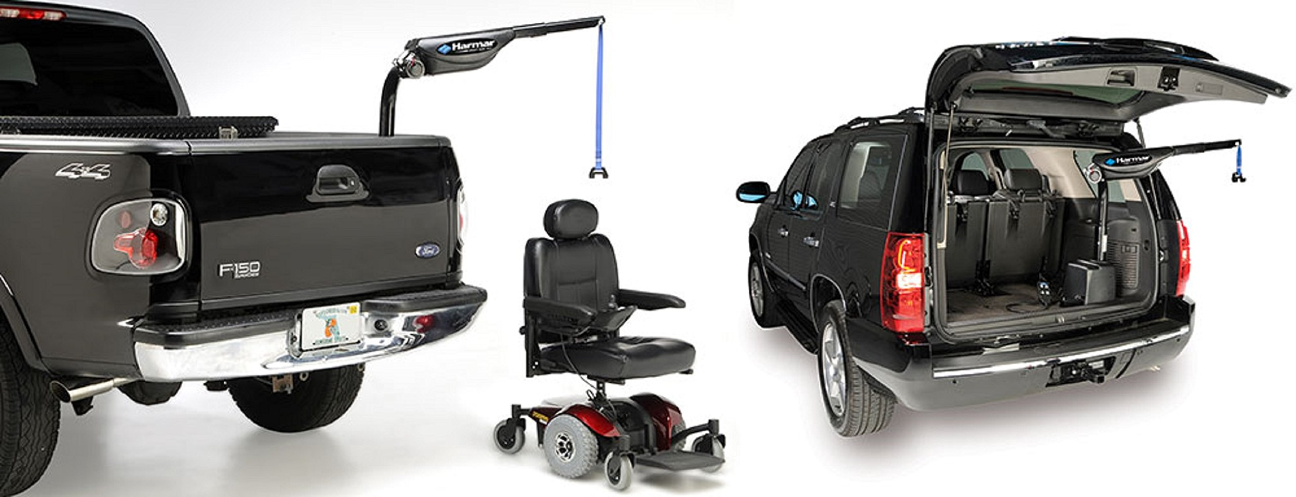 Harmar Mobility AL435 Scooter & Wheelchair inside Carrier with Mounting Kit & Wiring Harness & Swing-Away Axis
