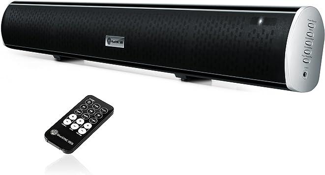 GOgroove Bluetooth barra de sonido inalámbrico altavoces 2.1 subwoofer integrado, entrada AUX/RCA/óptico, y Hardware de montaje – para Samsung, Sony, Sharp, Toshiba, Vizio, y muchos más de la TV: Amazon.es: Electrónica