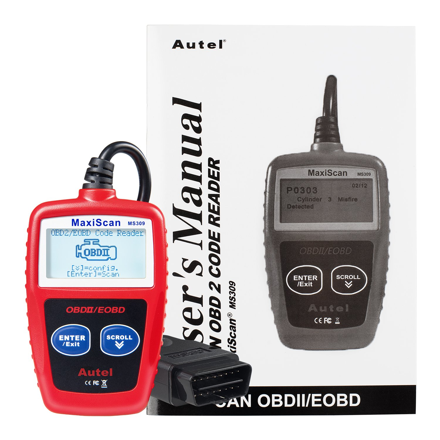 Autel Maxiscan Ms309 Can Obdii Diagnostic Tool Obd2 Two Simple Relay Based Motorcycle Alarms Scanner Scan For Check Engine Light Automotive
