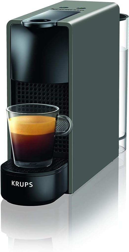 Nespresso Krups Essenza Mini XN110B - Cafetera monodosis de cápsulas Nespresso, compacta, 19 bares, apagado automático, color gris [Clase de eficiencia energética A+] (Reacondicionado): Amazon.es: Hogar