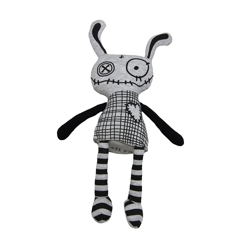 Fixoni Small Rags, doudou 'Mr. Rags - Monsieur Chiffon', 42 cm, gris/noir, 60093 Animaux