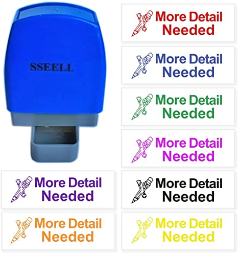 SSEELL Sign and Return Reward Stamp Self Inking for School Student Teacher Homework Feedback Stamp Rubber Flash Stamp Self-Inking Pre-Inked RE-inkable School Stationary Green Ink Color