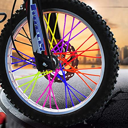 LIOOBO 72 Piezas de Bicicleta habló radios Pieles Cubiertas ...