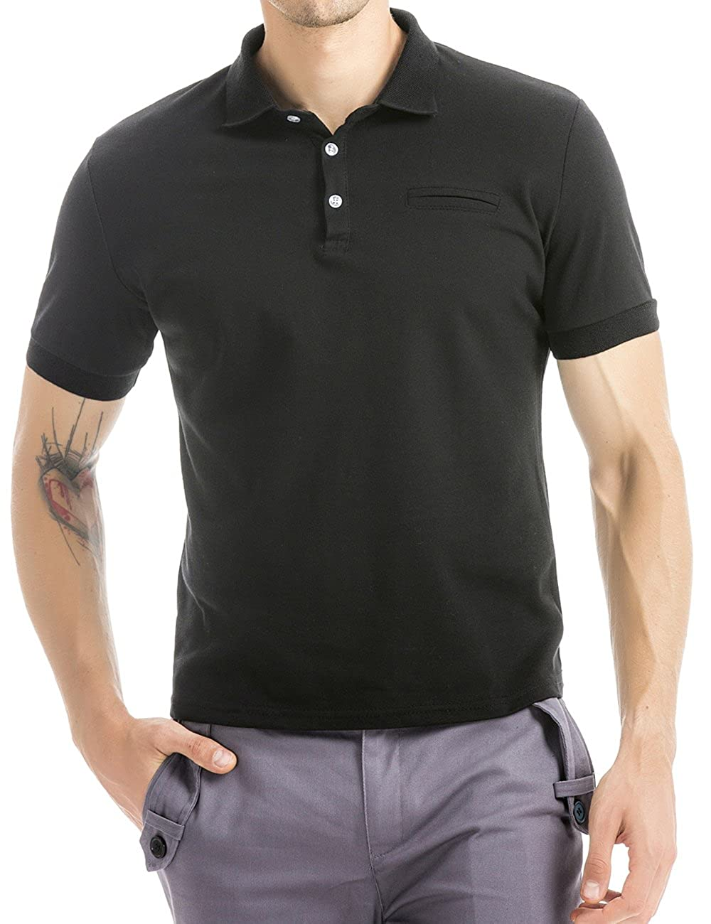Olive Tree Business Casual Classic Polo Shirt At Amazon Mens