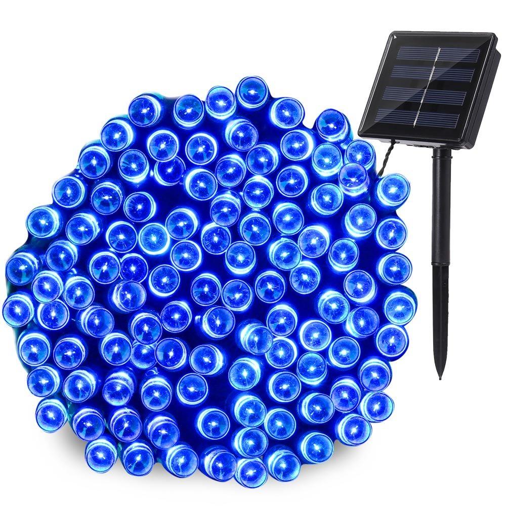 Qedertek 200 LED Solar String Lights, 72ft Fairy Lights Decorative Lighting for Home, Lawn, Garden, Wedding, Patio, Party and Holiday Decorations (Blue) by Qedertek