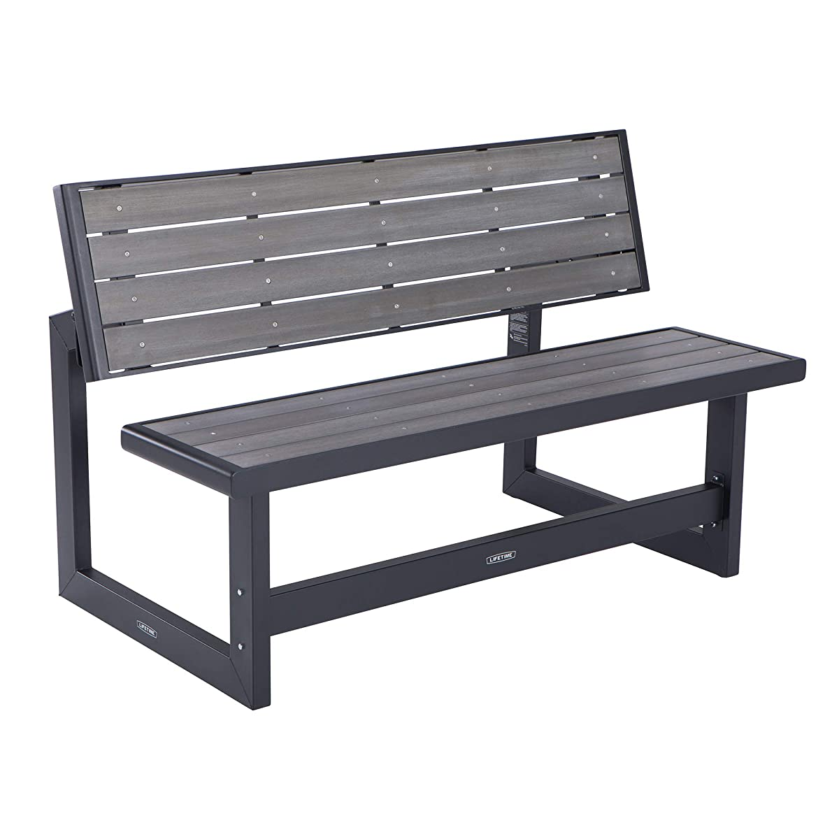 Lifetime 60253 Convertible Bench, Harbor Gray