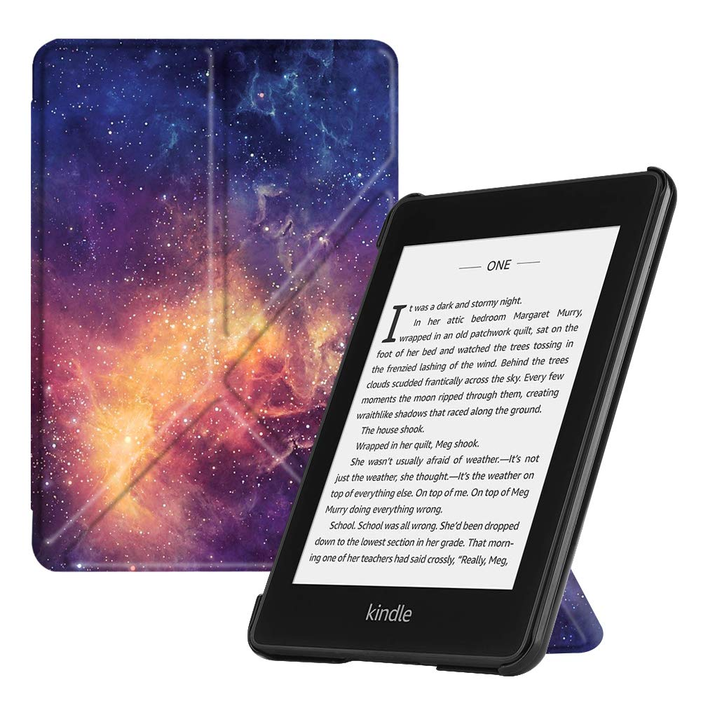 Fintie Origami Case for All-New Kindle Paperwhite (10th Generation, 2018 Release) - Slim Fit Stand Cover Support Hands Free Reading with Auto Sleep/Wake for  Kindle Paperwhite E-Reader, Navy