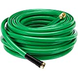 AmazonBasics Garden Tool Collection - Heavy Duty Water Hose with Brass Coupling 75ft, 5/8'', 500psi