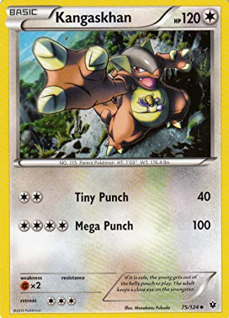 Pokemon XY Fates Collide Kangaskhan 75/124 card: Amazon.es ...