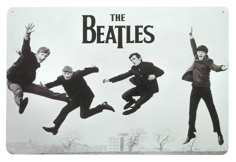 Forry The Beatles Jump M/étal Mur Affiche Vintage Plaque /Étain Signe R/étro D/écorer Artisanat pour Caf/é Bar Garage Salon Chambre