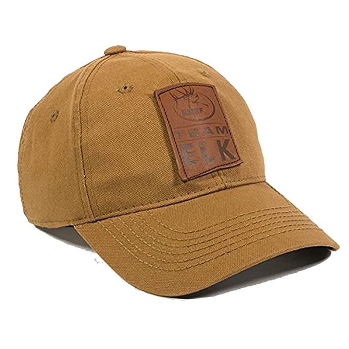 6b315955a Amazon.com: Elk Head Brown Tan Leather Patch Tough Canvas Hunting ...
