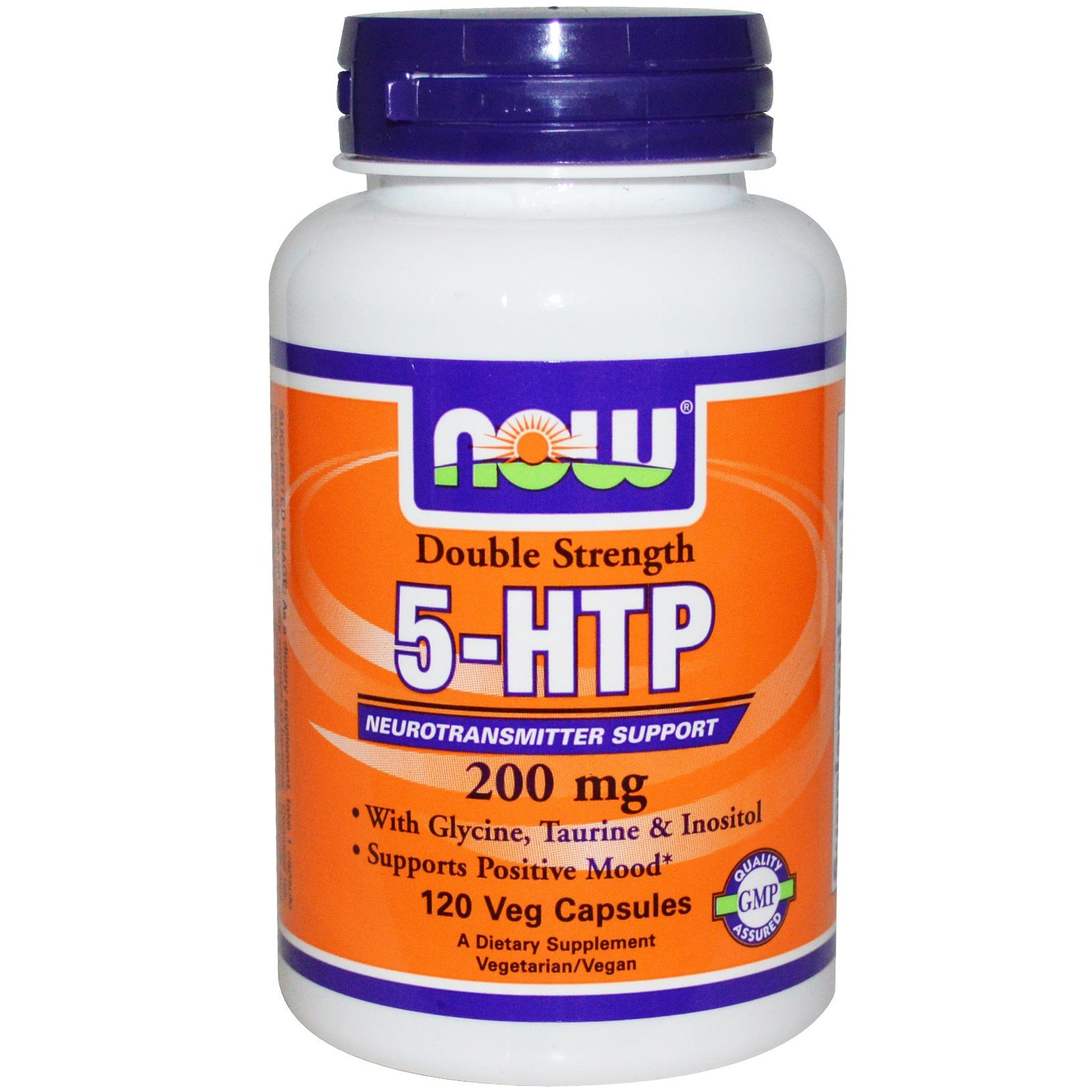 Now Foods Double Strength 5-HTP 200 mg (120 vc) 5 Pack by NOW Foods (Image #1)