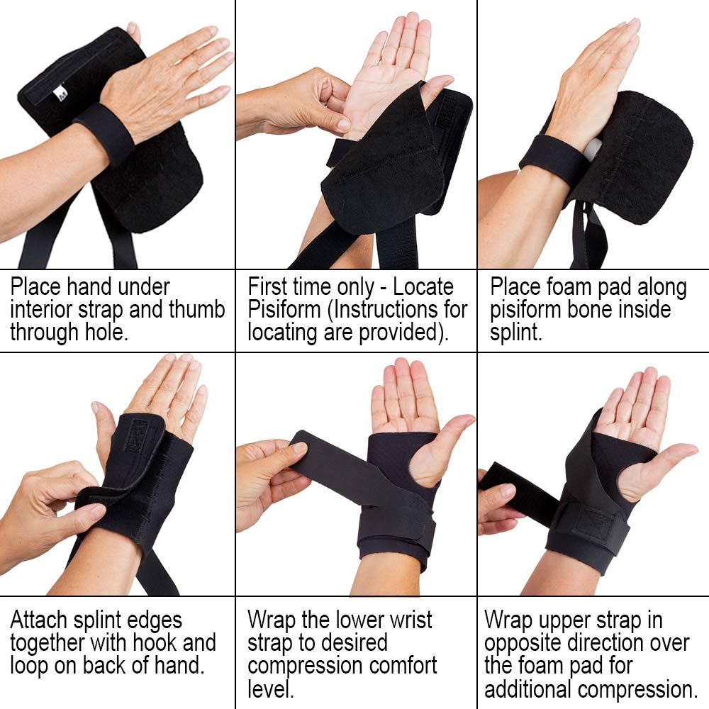 Comfort Cool Ulnar Booster Support Provides Compression for Ulnar Sided Wrist Pain. TFCC Tear Triangular Fibro-Cartilage Complex Injuries, Tendonitis or Repetitive Use Injury. Right Large in Black by Comfort Cool