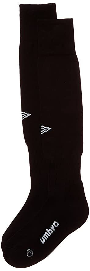 Umbro Diamond - Calcetines para niño, color negro/blanco, talla 35/37
