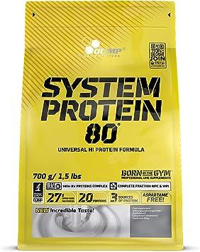 Olimp Sport Nutrition System Protein 80 Zip Bag Proteína, Sabor Plátano - 700 gr