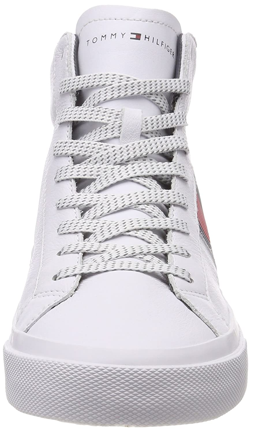 ba1ef2b8a117 Tommy Hilfiger Men s Flag Detail High Leather Sneaker Hi-Top Trainers   Amazon.co.uk  Shoes   Bags