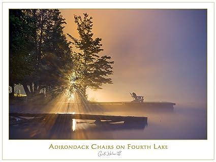 Amazon.com: Adirondack Chairs on Fourth Lake Print by Carl ...