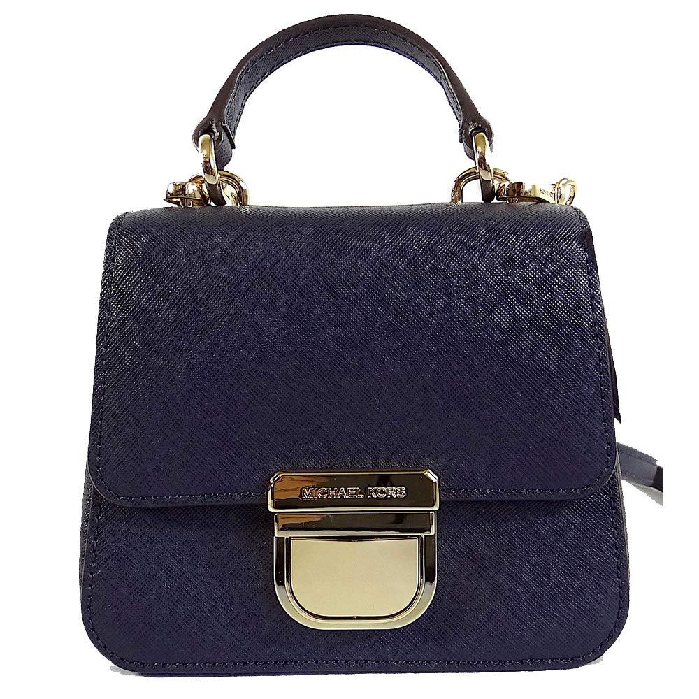 12cf512e1071 Michael Kors Bridgette Navy Saffiano Leather Mini Top Handle Crossbody Bag:  Handbags: Amazon.com