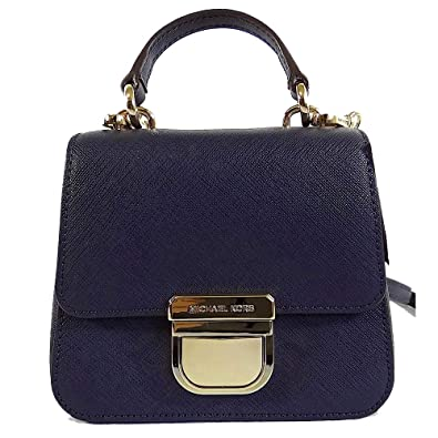 b37ab88d4477 Michael Kors Bridgette Navy Saffiano Leather Mini Top Handle Crossbody Bag   Handbags  Amazon.com