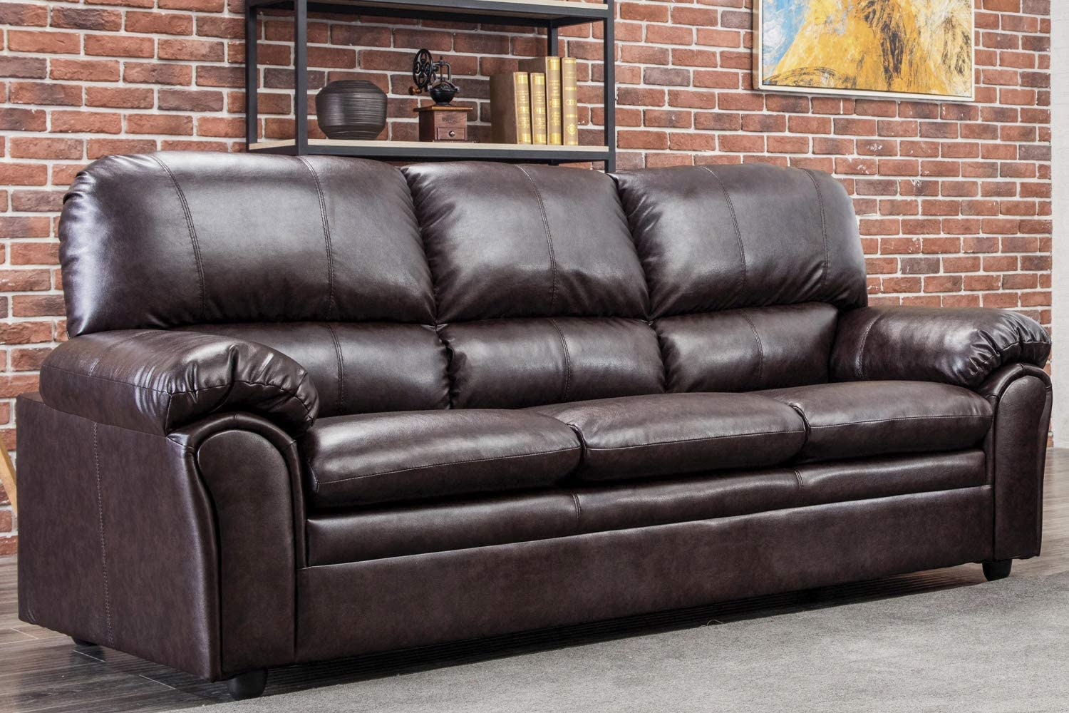 Sofa Sectional Sofa for Living Room Couches and Sofas Loveseat Modern Sofa Mid Century for Home Furniture (Three-Seater)