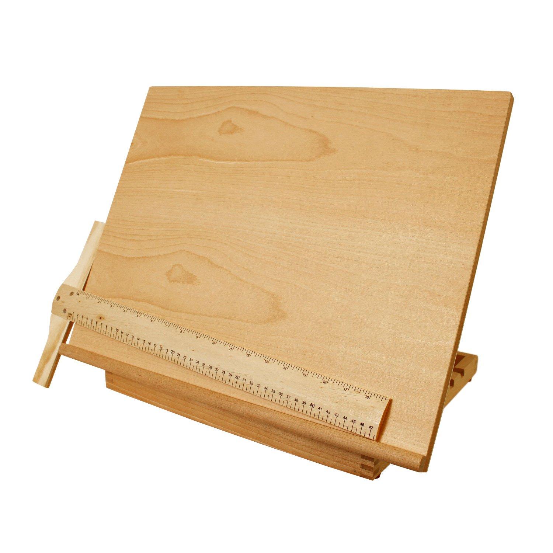 US Art Supply 5-Position Adjustable Wood Artist Drawing & Sketching Board
