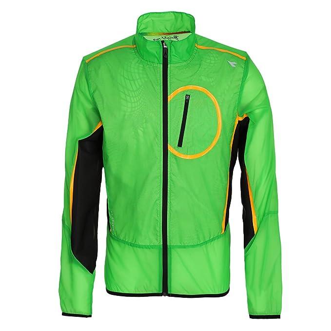 Diadora Chaqueta Running Wind Jacket Hombre Verde Fluo Large ...