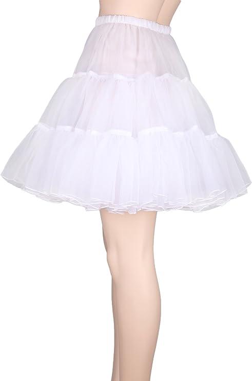 Swing rétro années 50 jupon jupon tutu années 80 blanc rockabilly robe de fantaisie