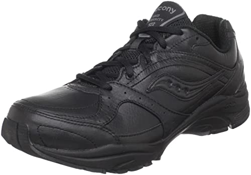 de1ff7015b3f Saucony Women s ProGrid Integrity ST2 Walking Shoe Black Grey 8.5 C D US