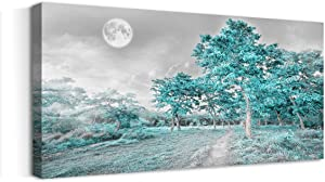 youkuart Canvas Wall Art for Bedroom Simple Life Green Moon Tree Artwork Painting Office Wall Decor 30
