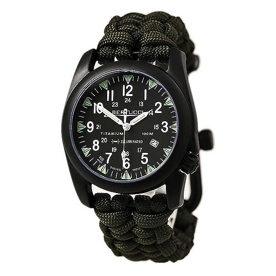 Bertucci 13423 Ladies Black Nylon Strap Reloj analógico de Cuarzo analógico Negro: Amazon.es: Relojes