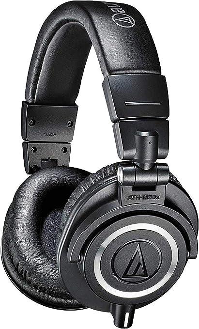 Audio-Technica ATH-M50X Studio Monitor Professional Headphones - Black: Amazon.co.uk: Musical Instruments